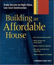 Cover of: Building An Affordable House