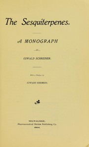 Cover of: The sesquiterpenes
