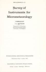 Cover of: Survey of instruments for micrometeorology