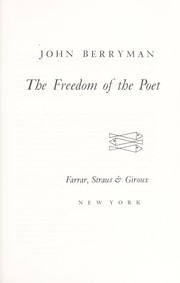 Cover of: The freedom of the poet
