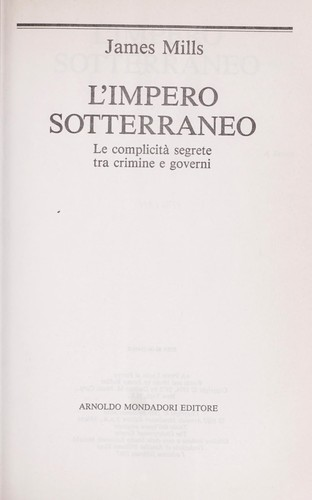 L'impero sotterraneo by James Mills