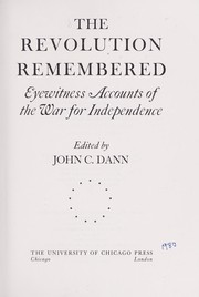 Cover of: The Revolution remembered | edited by John C. Dann.