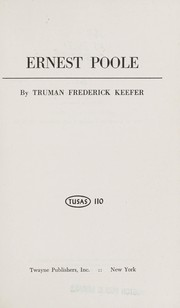 Cover of: Ernest Poole. | Truman Frederick Keefer