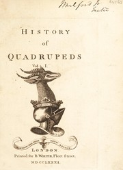 Cover of: History of quadrupeds
