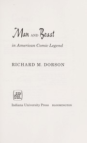 Cover of: Man and beast in American comic legend