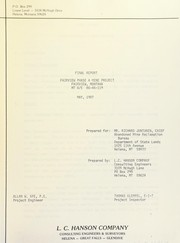 Final report by L.C. Hanson Company