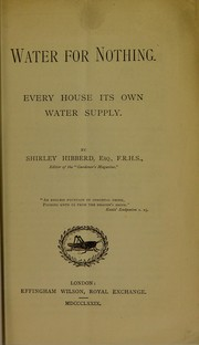 Cover of: Water for nothing