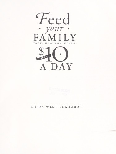 Feed your family on $10 a day by
