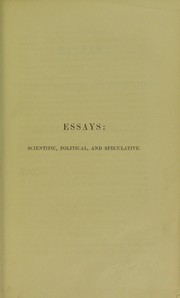 Cover of: Essays : scientific, political, and speculative | Herbert Spencer