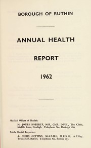 Cover of: [Report 1962] | Ruthin Town (Clwyd, Wales). Borough Council