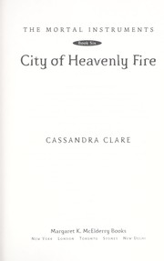Cover of: City of heavenly fire | Cassandra Clare