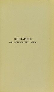 Cover of: Biographies of scientific men | A. B. Griffiths