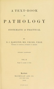 Cover of: A textbook of pathology