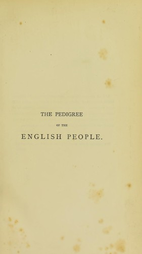 The pedigree of the English people