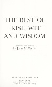 Cover of: The Best of Irish wit and wisdom |