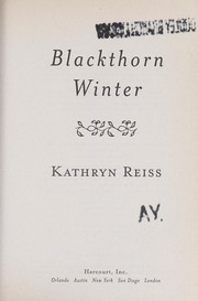 Cover of: Blackthorn winter | Kathryn Reiss
