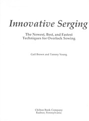 Innovative serging