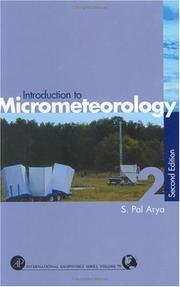 Introduction to micrometeorology by S. Pal Arya