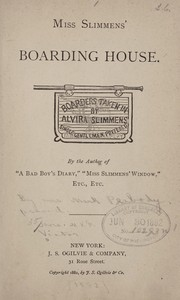 Cover of: Miss Slimmens' boarding house