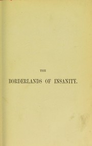 Cover of: The borderlands of insanity and other papers