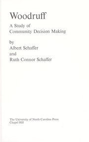 Cover of: Woodruff, a study of community decision making
