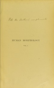 Cover of: Human morphology | Henry Albert Reeves