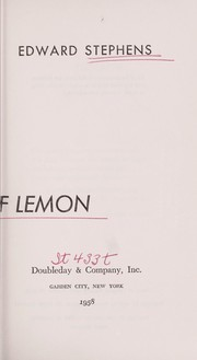 Cover of: A twist of lemon. | Edward Carl Stephens