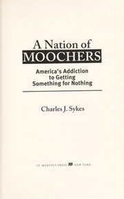 Cover of: A nation of moochers