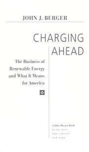 Cover of: Charging ahead : the business of renewable energy and what it means for America |
