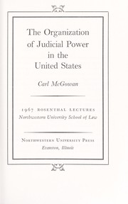 The organization of judicial power in the United States.