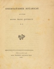 Cover of: Observationes botanicae