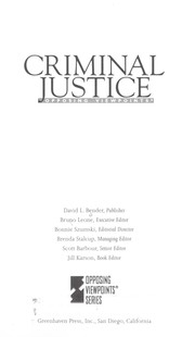 Cover of: Criminal justice : opposing viewpoints |