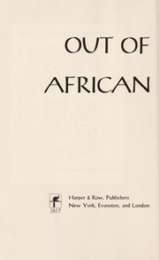 Cover of: Out of the African night