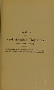Cover of: Grundriss der psychiatrischen Diagnostik