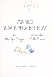Cover of: Minnie's Yom Kippur birthday | Marilyn Singer