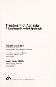 Cover of: Treatment of aphasia
