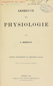 Cover of: Lehrbuch der Physiologie ...