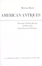Cover of: The easy expert in American antiques | Moreton Marsh