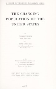 Cover of: The changing population of the United States
