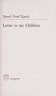 Cover of: Letter to my children