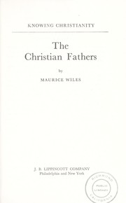 Cover of: The Christian fathers