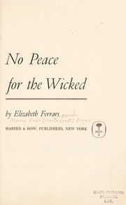 Cover of: No Peace for the Wicked