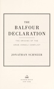 Cover of: The Balfour Declaration