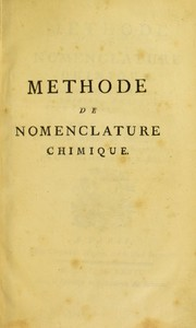 Cover of: M©♭thode de nomenclature chimique