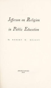 Cover of: Jefferson on religion in public education