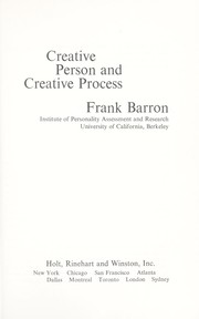 Cover of: Creative person and creative process