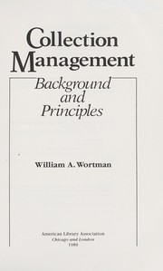 Cover of: Collection management