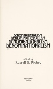 Cover of: Denominationalism | edited by Russell E. Richey.