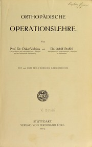 Cover of: Orthopädische operationslehre