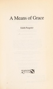 Cover of: A means of grace